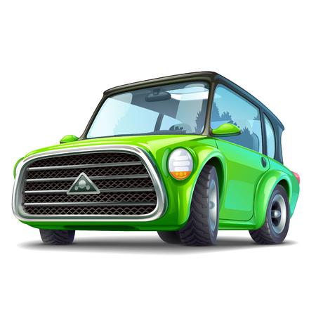 Green ecocar illustration