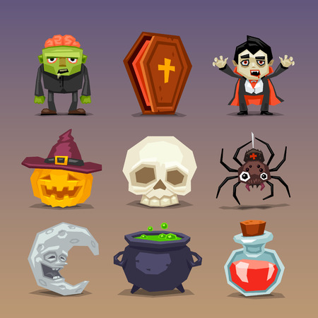 decoction: Funny halloween icons-set 3 Illustration