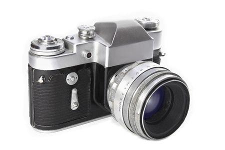 shiney: old camera on a white background