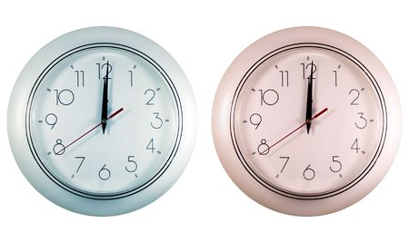 mechanical clocks of different colors photo