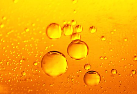 Beer bubbles, an abstract background for the desktop Stock Photo