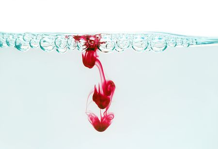 drop of blood in the water photo