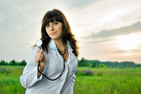 female doctor in nature photo