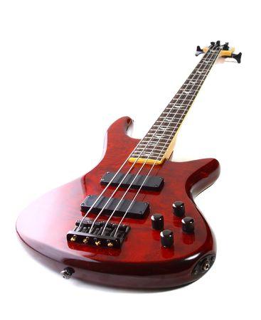 Guitare sur un fond blanc  Banque d'images - 6702794