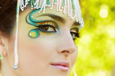 maquillaje de fantasia: El retrato de una mujer, maquillaje de fantas�a