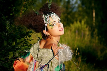 fantasy makeup: The portrait of a woman, fantasy make-up