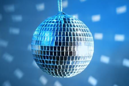 Disco ball on the party photo