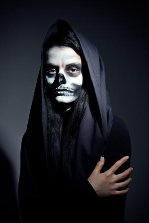 Gothic portrait of dead woman in studio photo