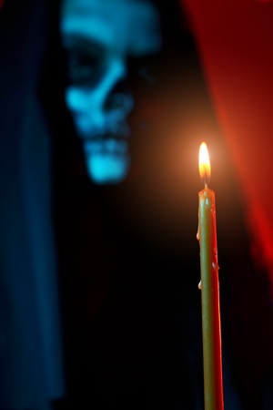 Gothic portrait of dead woman with candle Stock Photo - 9153081
