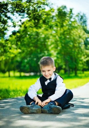 Boy sitting Stock Photo - 9728460