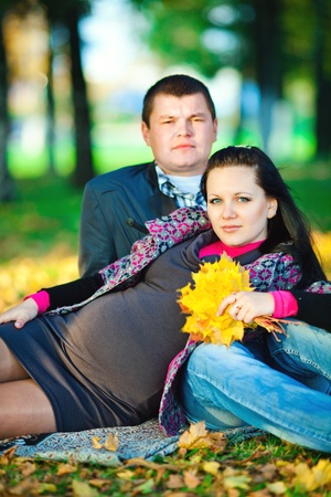husbands: pregnant young woman with her husband