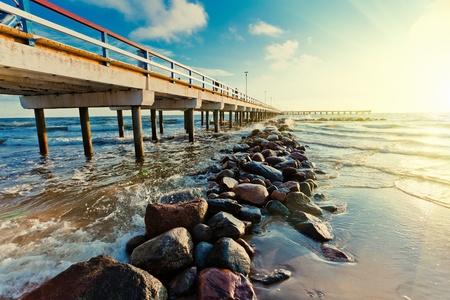 Pier in Palanga on Baltic sea