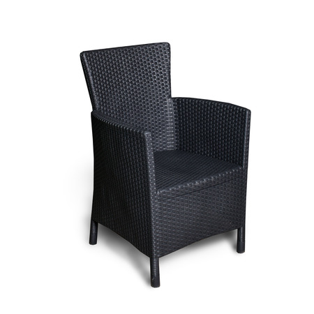 idea comfortable: black chair