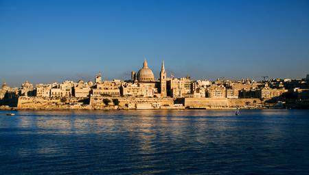 Valetta over sunset, Malta, EU. Stock Photo