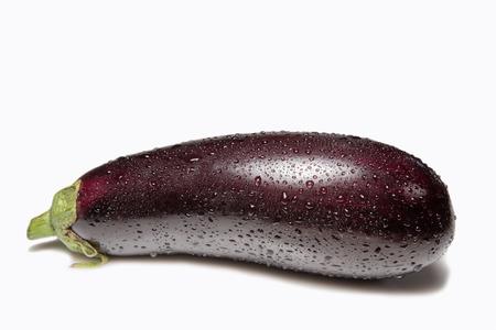 watered: Eggplant isolated