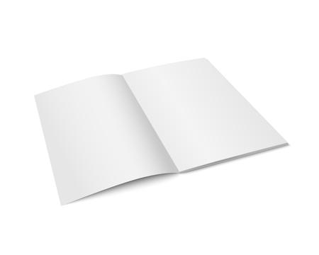 Vector white mock up opened magazine.