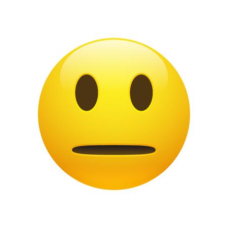 Emoji yellow neutral face icon