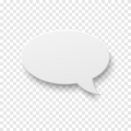 Realistic speech bubble icon