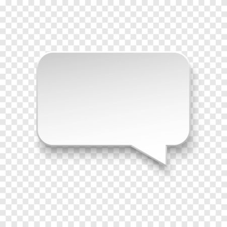 Vector white blank paper speech bubble on transparent Stock fotó - 137236731
