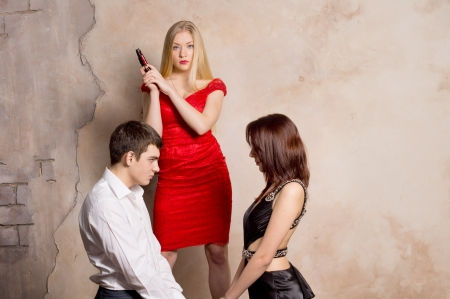 dominance: Portrait of a Girl saw her boyfriends infidelity