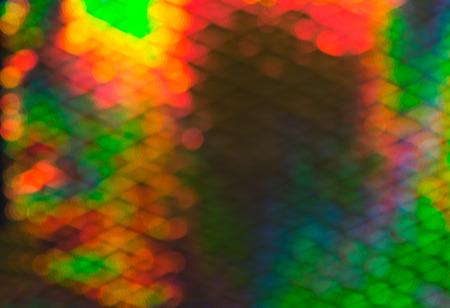 emphasising: Interessanti sfocate luci multicolori per carta da parati Sfondi, sottolineando Copy Space Archivio Fotografico