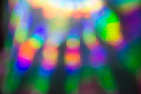 soft diffused light: Abstract background of vivid colorful bokeh Stock Photo