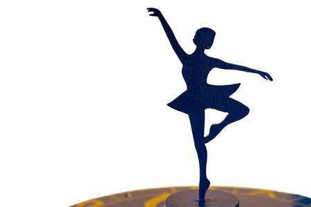 ballerina silhouette: Ballerina Silhouette Statue on White Background