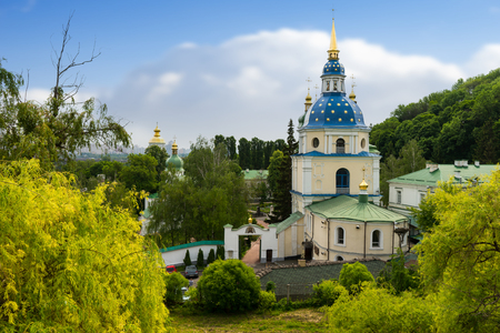 Beautiful church with onion domes