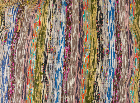 red carpet background: Antique carpet with multi-colored inserts