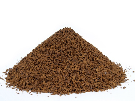 granulated coffee sprinkled by hutch, bosom Stock Photo