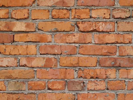 wall built from red brick Stock Photo