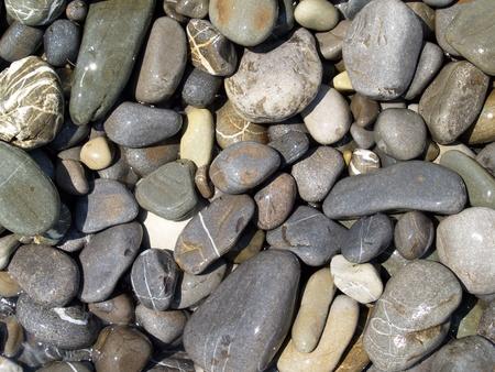 wet sea pebble forming gray background, invoice Stock Photo - 8946959
