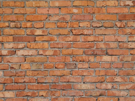 wall built from red brick Stock Photo - 8946946