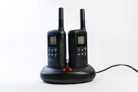 The radios are ready for service and negotiations at work