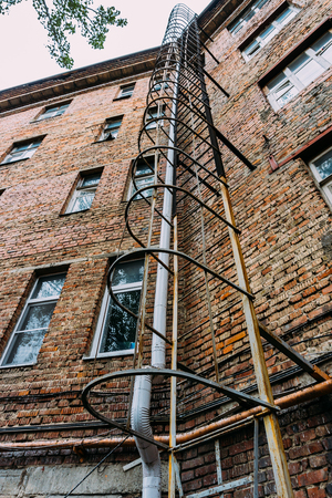 emergency stair: emergency staircase for evacuation of an apartment house