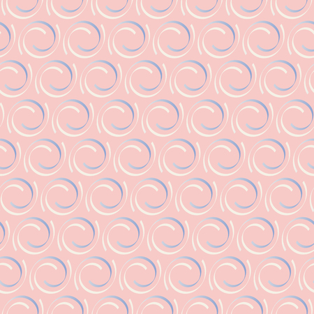 gentle: Geometrical seamless pattern in gentle beige, pink and blue colors