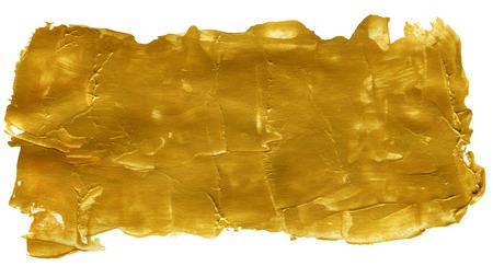 bidirectional: Golden Yellow Abstract Acrylic Hand Painted Background Stock Photo