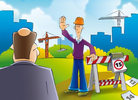 builder inspector stops photo