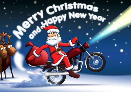 Santa_new_year_cards 版權商用圖片 - 31033579