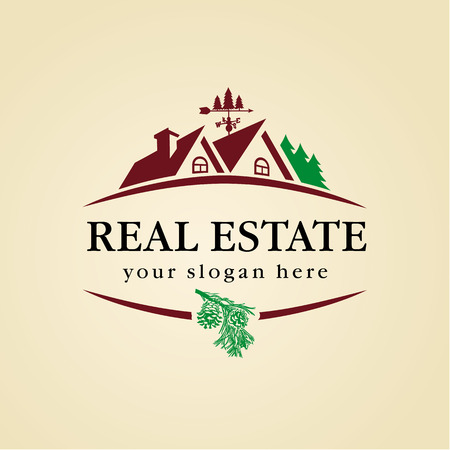 real estate concept: Real estate wood icon