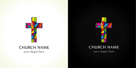 Church cross colored