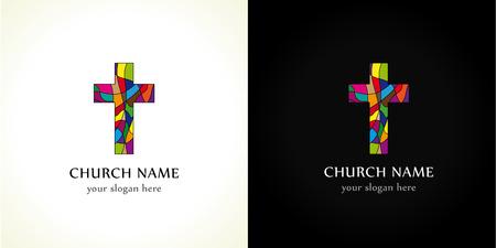 Church cross colored