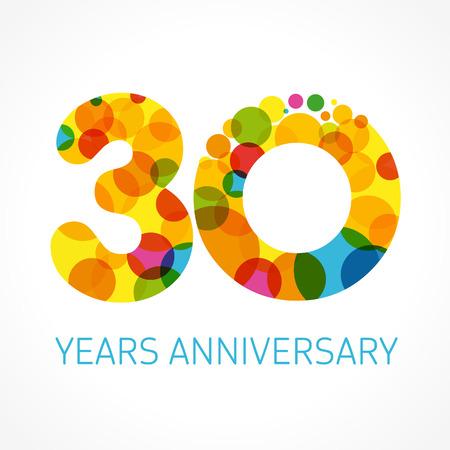 30 年周年記念サークル色