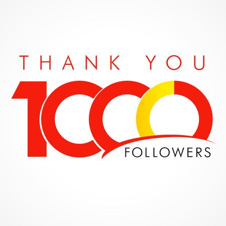 ありがとう 1000年信者。1000 番号のテキストとネットワークの友達のおかげでカード