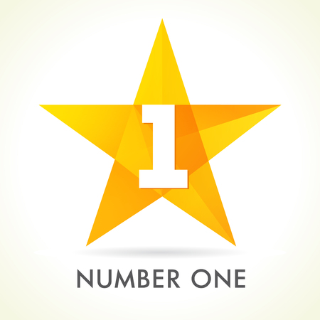 Nummer één ster teken