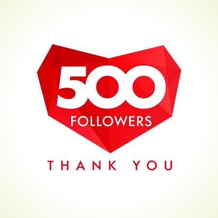 followers: 500 followers thank you heart