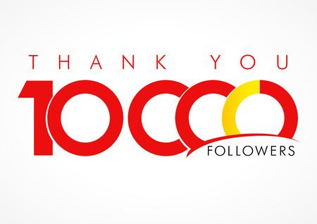 you figure: Thank you 10,000 followers icon