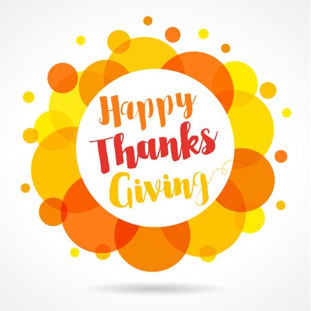 Happy Thanksgiving Day. Season design style Happy Thanksgiving Day vector label and icon