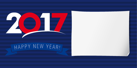 happy new year banner: Happy new year banner 2017. Invitation of happy new year 2017 vector design Illustration