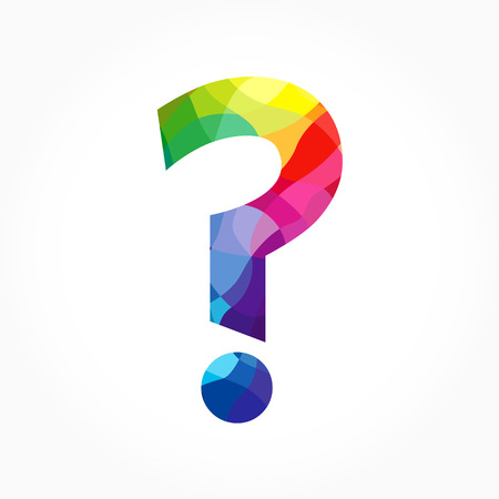Question Mark Sign Colored Icon Help Colorful Symbol Faq Sign